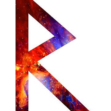 Raido - Viking Rune by qqqueiru
