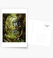 Wooden Tardis Postcards