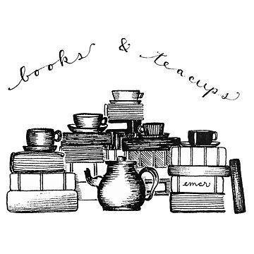 Bücher & Tee Tassen, mit Text von gentlecounsel