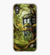 Wooden Tardis iPhone Case