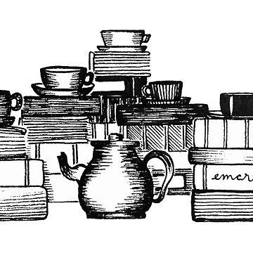 Bücher und Teetassen von gentlecounsel