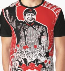 Chairman Mao Zedong Dare to Teach Graphic T-Shirt