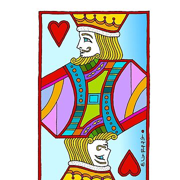 King of Hearts by Eliot Raffit Painting Love by EliotRaffit