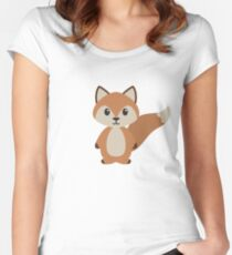 Woodland Fox Women's Fitted Scoop T-Shirt
