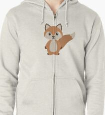 Woodland Fox Zipped Hoodie