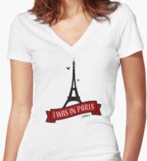I Was In Paris Shirt mit V-Ausschnitt