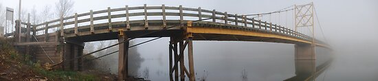 Little Golden Gate Fog Bridge  by Chip  Ford