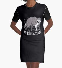 Raccoons Graphic T-Shirt Dress