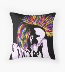 Primarily Punk -Self Portrait Throw Pillow