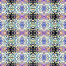 Funky dot monoprint  by LucyBrydonArt
