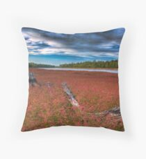 Wildflowers on the River Throw Pillow