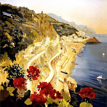 Vintage Travel Poster - Amalfi Coast by G-Design