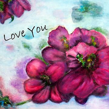 I Love You, A small word that goes a long way, Original Painting, Originally signed by Tamariko