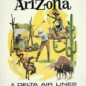 Vintage Travel Poster Arizona by G-Design