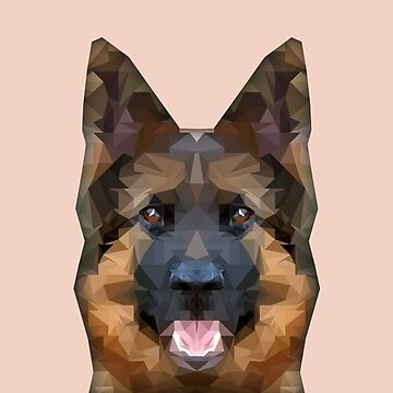 Art - German Shepherd by GraphicallyS