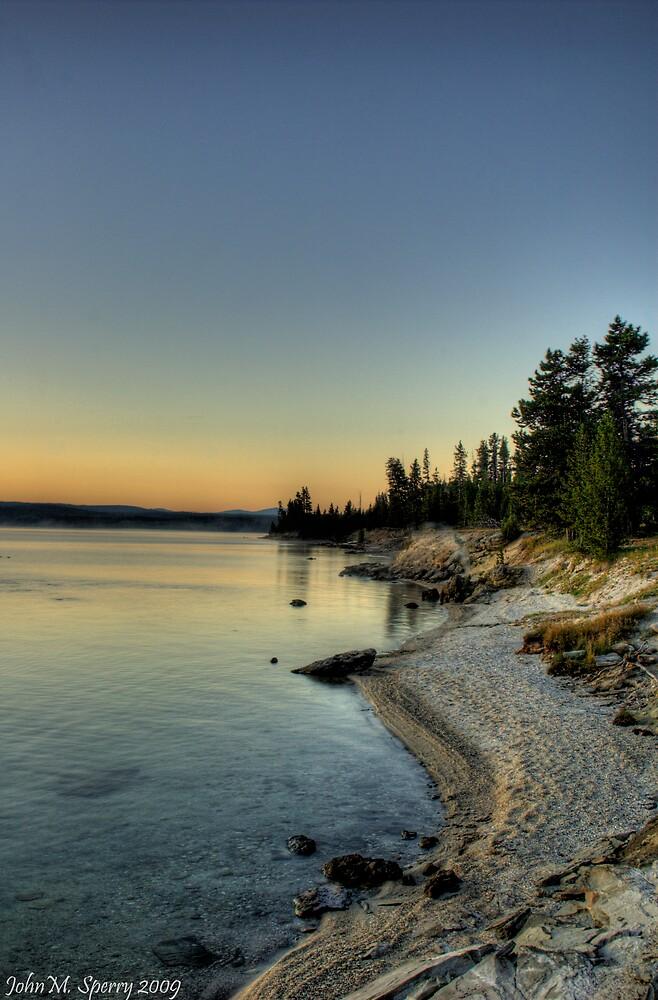 Yellowstone Lake Sunrise by John  Sperry