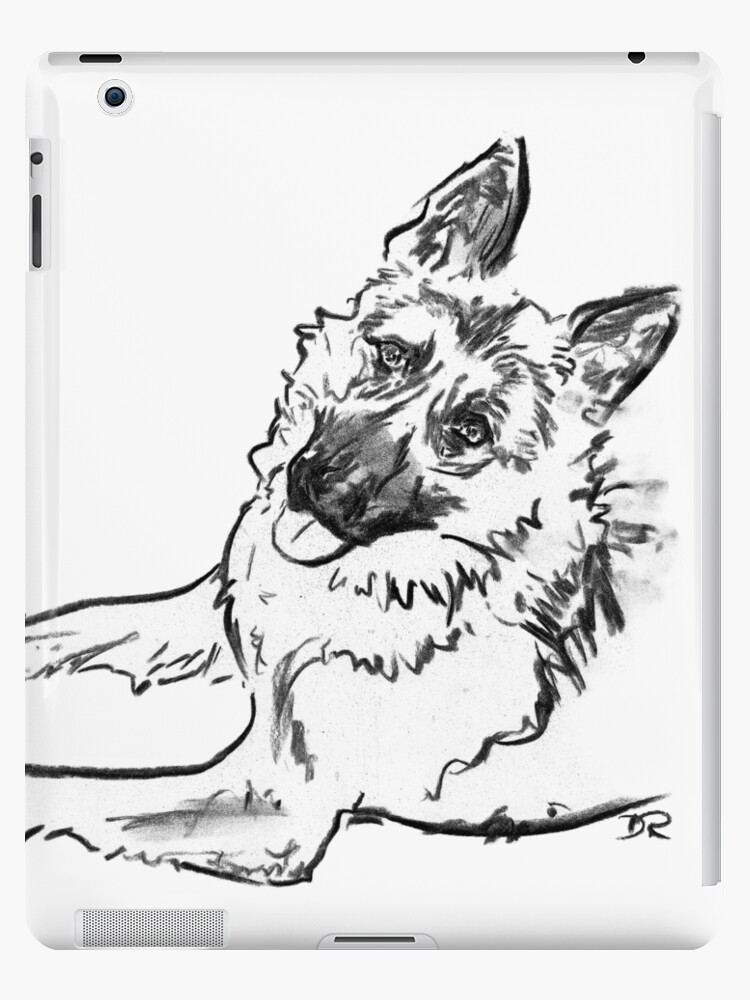 German Shepherd Drawing by Douglas Rickard