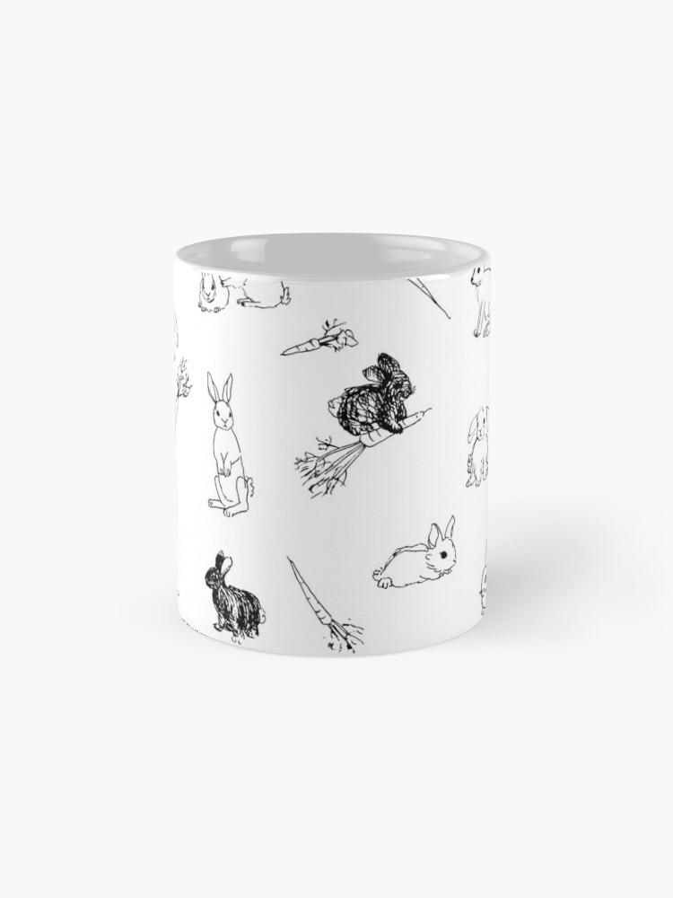 Alternate view of Bunnies & Carrots Pattern Mugs