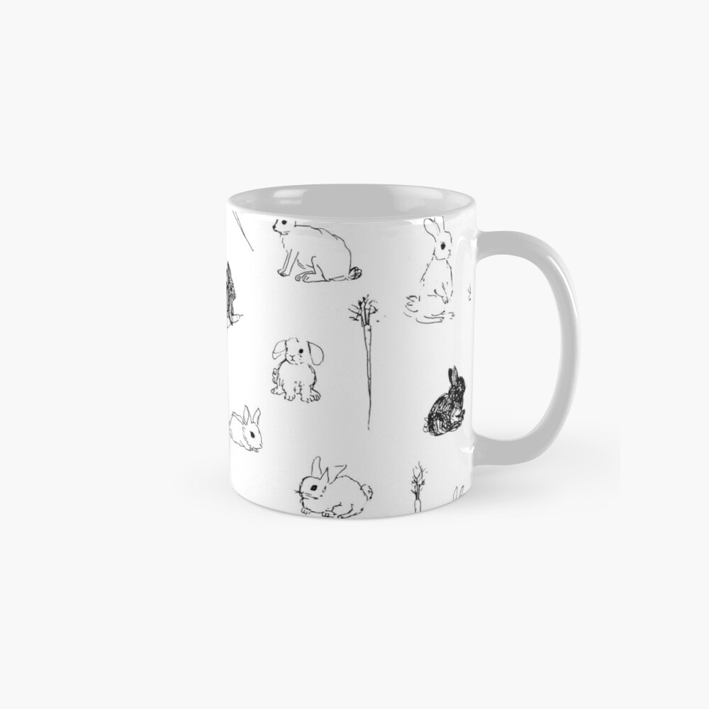Bunnies & Carrots Pattern Mugs