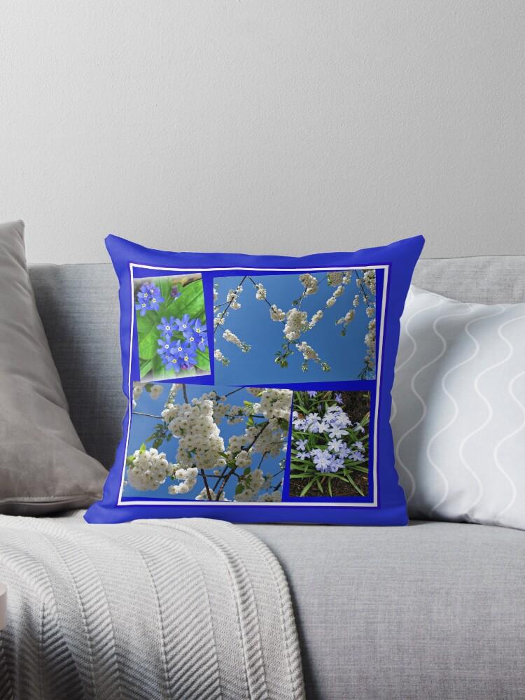 Schön Blau - Blüten und Blumen der Frühlings-Collage von BlueMoonRose