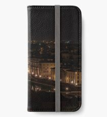 Night view of Ponte Vecchio on the Arno river iPhone Wallet/Case/Skin