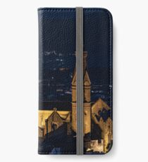 Night view of the Basilica of the Holy Cross (Basilica di Santa Croce) iPhone Wallet/Case/Skin