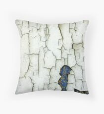 Once Yellow, Then Blue, Then White. Throw Pillow