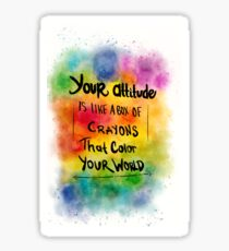 Color Splash Quote Sticker