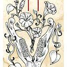 Elder Futhark 9. Hagalaz by Haunting Beauty Art by hauntingbeauty