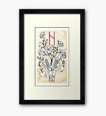 Elder Futhark 9. Hagalaz by Haunting Beauty Art Framed Print
