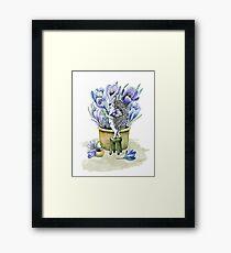 hedgehog florist Framed Print