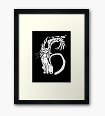 Cat of Numbers Framed Print