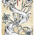 Elder Futhark 10. Naudiz by Haunting Beauty Art by hauntingbeauty