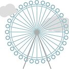 London Eye Wheel Illustration by Sophia Carey