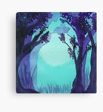 Bright Forest Walk Canvas Print