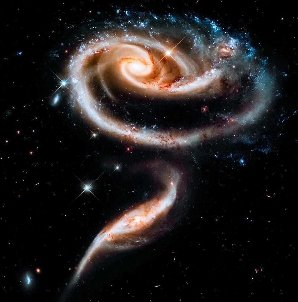 Swirly galaxy by Space Prints