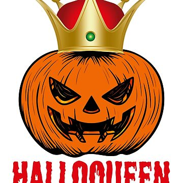 Halloqueen Pumpkin Shirt Halloween Queen Costume by carlosa98