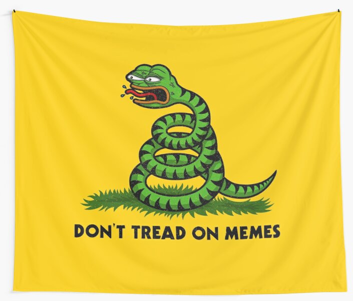 Don't Tread on Memes -Triggered Pepe- by HellFrog