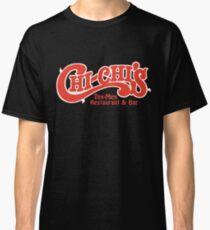 Camiseta clásica Camiseta Chi-Chi's Restaurant - Logotipo de cadena de restaurante difunto - Versión negra