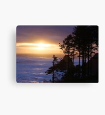 Golden Hour Sea Canvas Print