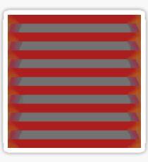 Steel Stripes on Red and Orange  Sticker