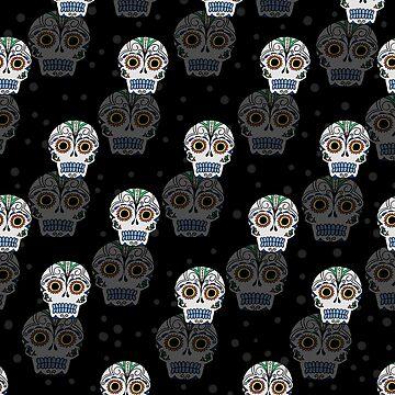 Sugar Skull Pattern by noellelucia
