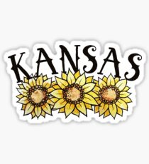 Kansas Sunflowers Sticker