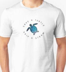 save a turtle skip a straw Unisex T-Shirt