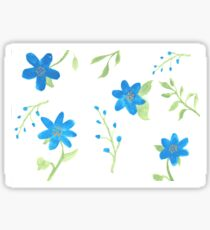 Vibrant Blue Flowers Sticker