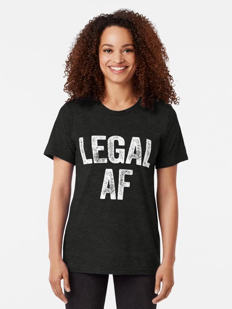 Alternative Ansicht von Rechtlicher AF Vintage T-Shirt