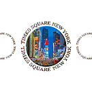 Times Square New York Triple Emblem (on white) by Ray Warren