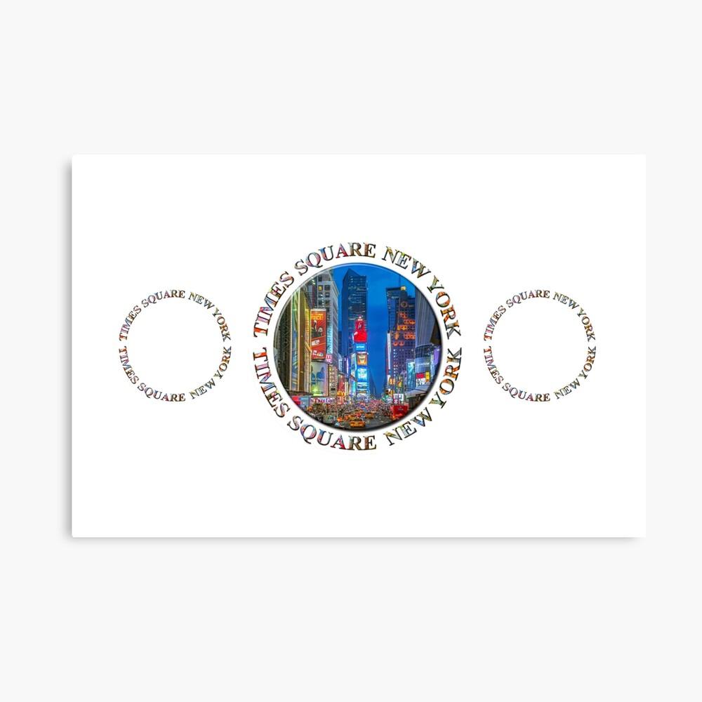 Times Square New York Triple Emblem (on white) Canvas Print