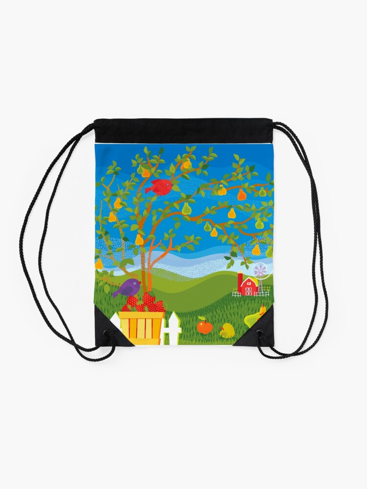 Alternate view of Summer Farm Drawstring Bag