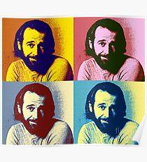 George Carlin art pop Poster